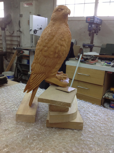 Gyr Falcon Sculpture