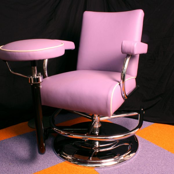 Vintage Barber Chair - Pink Leather